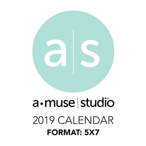 A Muse Studio 2019 Printable Calendars - 5x7