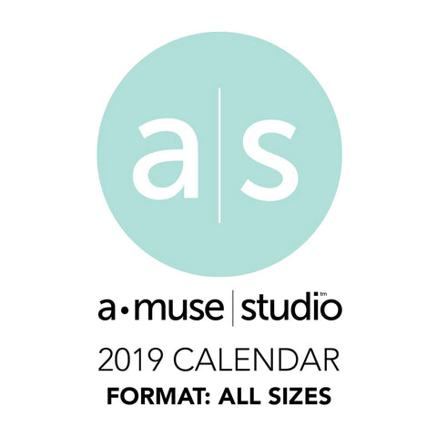 A Muse Studio 2019 Printable Calendars - all sizes
