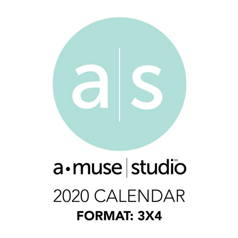 A Muse Studio 2020 Printable Calendars - 3x4
