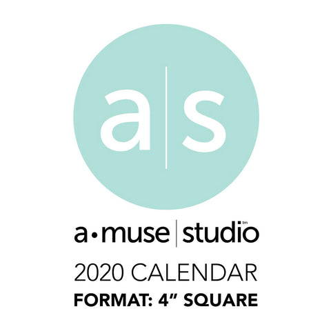 A Muse Studio 2020 Printable Calendars - 4x4