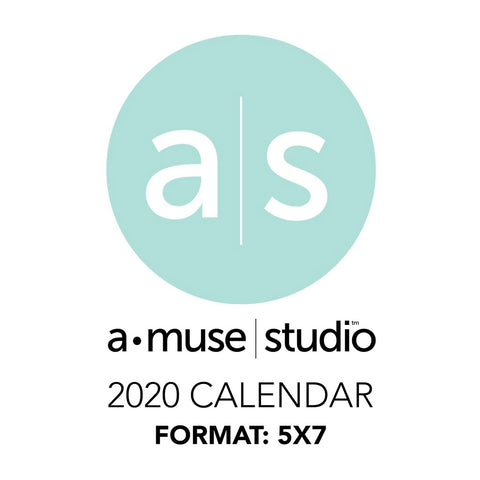 A Muse Studio 2020 Printable Calendars - 5x7