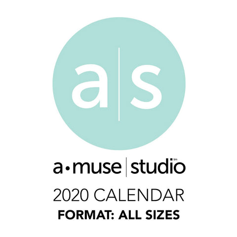 A Muse Studio 2020 Printable Calendars - all sizes