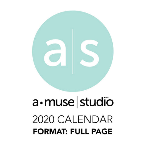 A Muse Studio 2020 Printable Calendars - full page