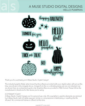 digital cut file - hello pumpkin