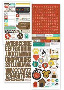 snap cardstock sticker sheets - dog