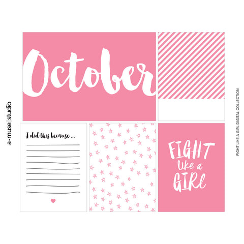 stamp out breast cancer - fight like a girl 2015 digital kit
