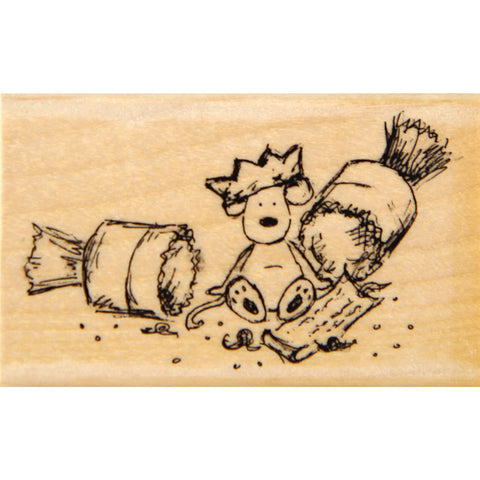 wood stamp - cracker surprise