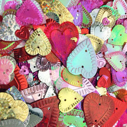 sequins - valentine mix assorted hearts