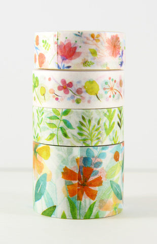 washi tape - spring floral set