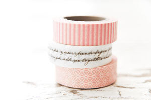 washi tape - valentine collection trio