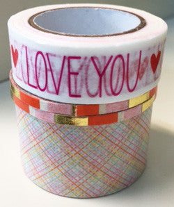 washi tape - valentine assortment
