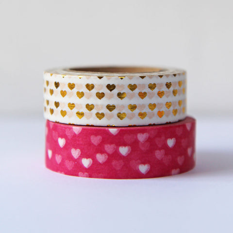washi tape - mini heart duo