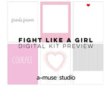 stamp out breast cancer - fight like a girl 2016 digital kit