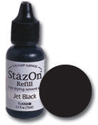 staz-on jet black - refill