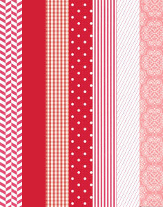 a|s cardstock - cherry collection