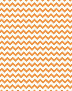 a|s cardstock - chevron orange