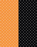 a|s cardstock - petite polka dot orange & onyx