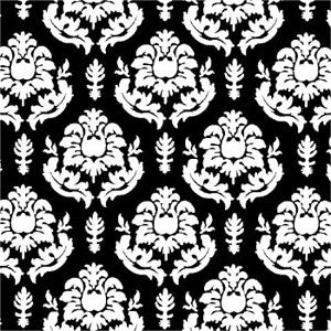 a|s shimmer damask cardstock - onyx