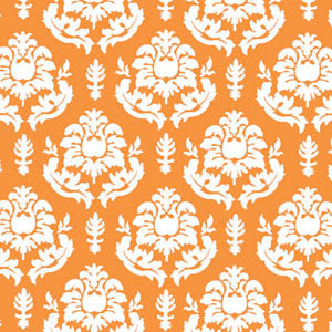 a|s shimmer damask cardstock - orange