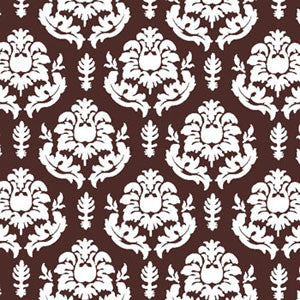 a|s shimmer damask cardstock - french roast