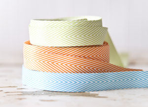 ribbon - chevron lime