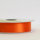 satin ribbon - orange & onyx