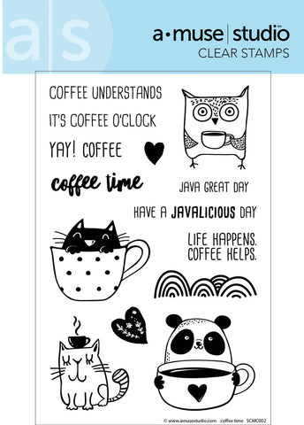 coffee time clear stamps - a muse studio