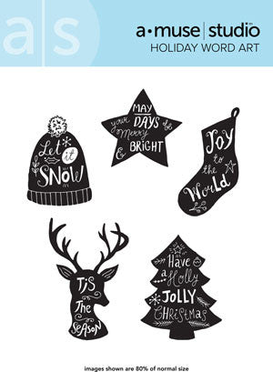 holiday word art