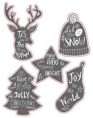 a|s die set - holiday word art
