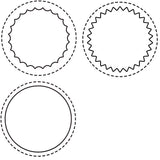 a|s die set - stitched circle windows