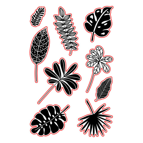 a|s die set - tropical leaves