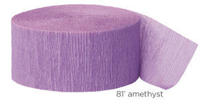 crepe paper solid  - amethyst