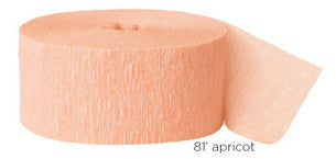 crepe paper solid - apricot