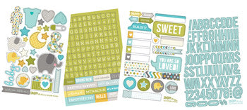 snap cardstock sticker sheets - baby boy