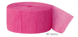 crepe paper solid - berry
