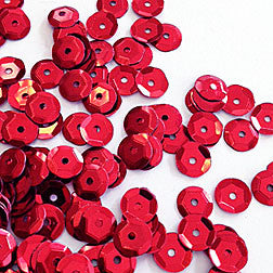 sequins 6mm - cherry