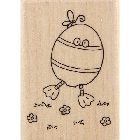 wood stamp - egg costume