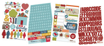 snap cardstock sticker sheets - family