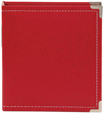 snap faux leather album 6x8 - cherry
