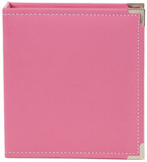 snap faux leather album 6x8 - bubblegum