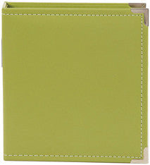 snap faux leather album 6x8 - fern
