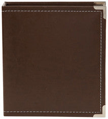 snap faux leather album 6x8 - french roast