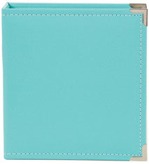 snap faux leather album 6x8 - mermaid
