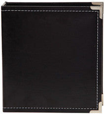 snap faux leather album 6x8 - onyx