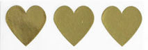 stickers - gold hearts