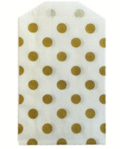 treat bags small - polka dot - gold