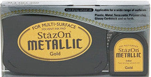 staz-on metallic gold ink pad & refill