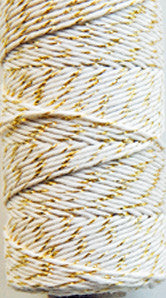 twine - metallic gold and natural
