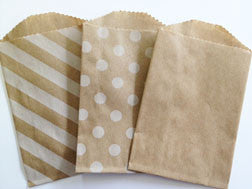 treat bags small - plain - kraft