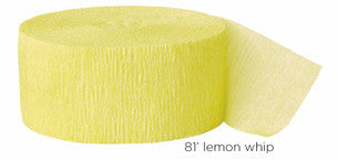 crepe paper solid - lemon whip